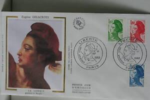 ENVELOPPE-PREMIER-JOUR-SOIE-1982-LIBERTE-DELACROIX