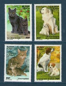 SERIE-TIMBRES-3283-3286-NEUFS-XX-LUXE-CHIENS-ET-CHATS