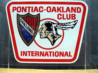 PONTIAC OAKLAND CLUB INTL EXTERIOR CHROME WINDOW OR BUMBER STICKER 3