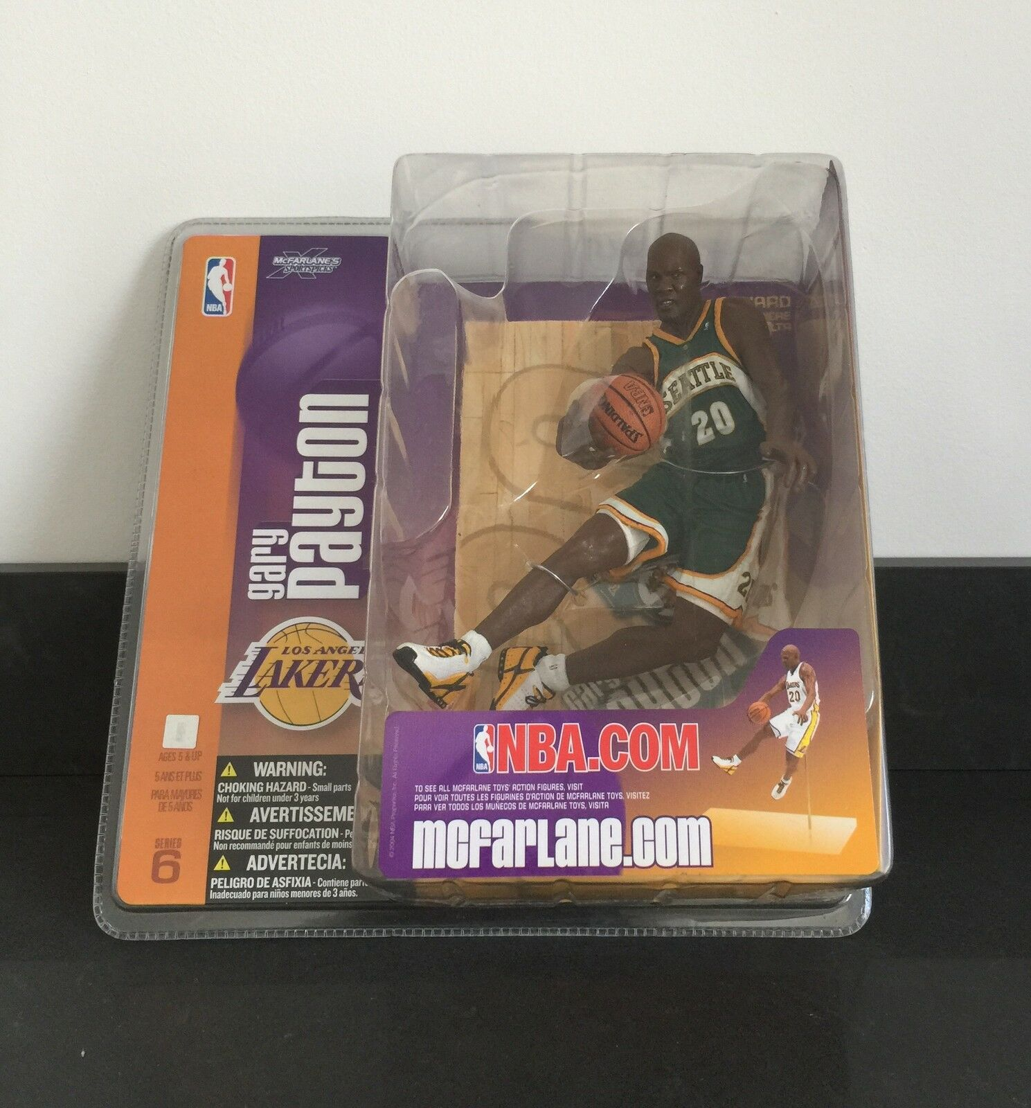 GARY PAYTON NBA SERIES 6 MCFARLANE SEATTLE SUPERSONICS VARIANT ERROR 1 OF A KIND