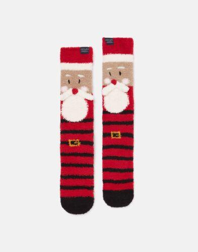 Joules Mens Festive Supersoft Fluffy Socks Adult 7-12 Santa