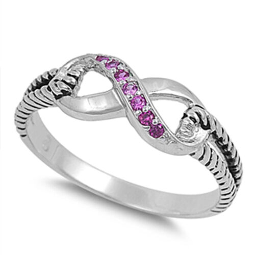 Infinity Ring NOUVEAU Argent Sterling .925 Corde Love Band