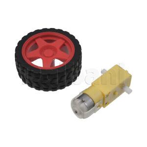 TT-Motor-Double-Shaft-3V-120rpm-65mm-Red-Wheel-Right-for-DIY-Robotics-Arduino