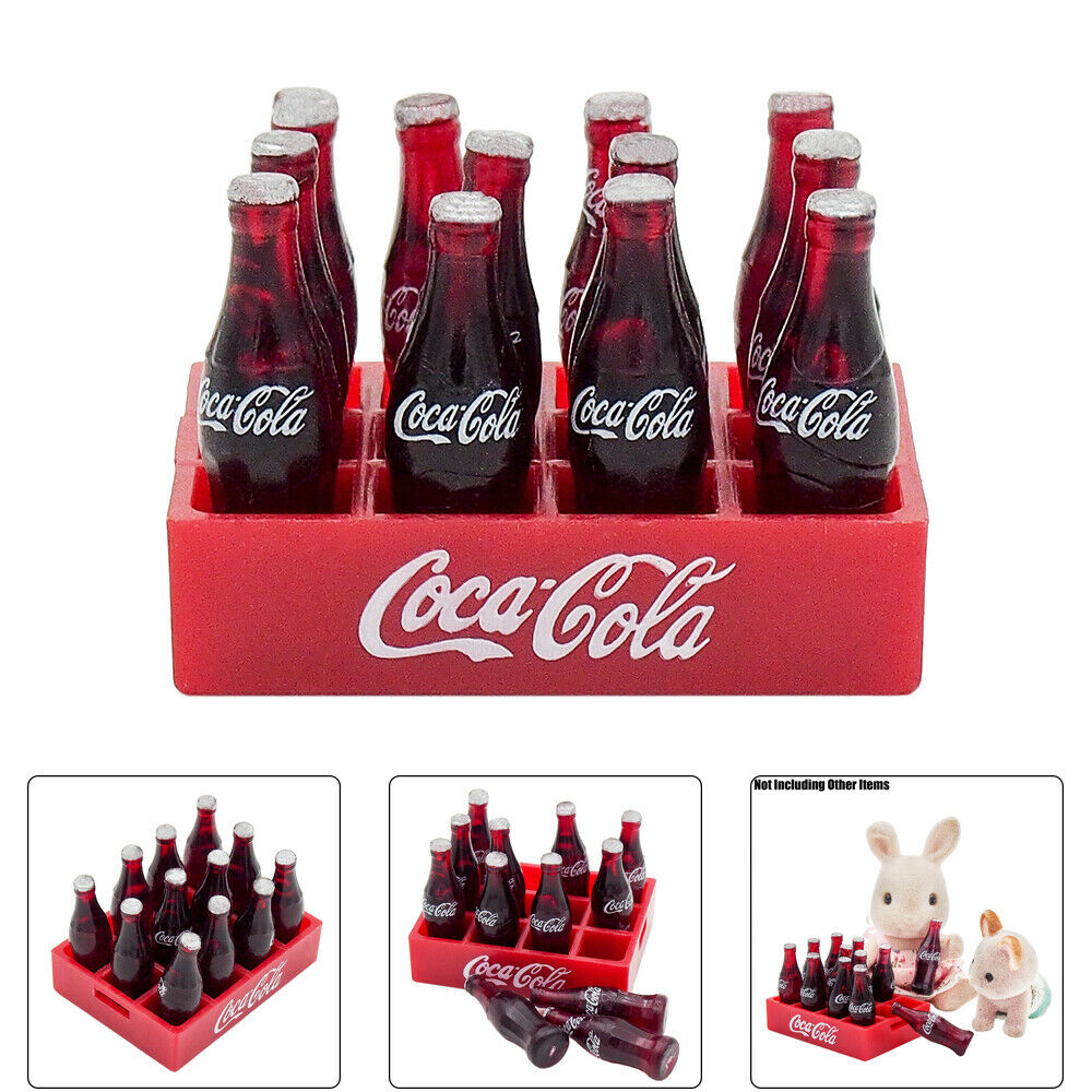 GI IG/_ 7Pcs Cocktails Cola Drink Wine Bottle Miniature Model Dollhouse Accessor