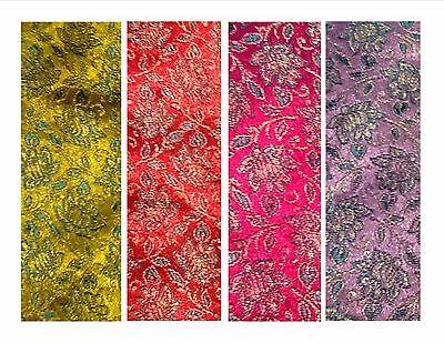 "Imitation//faux silk brocade dressmaking//craft fabric small Paisley 1.12m//44/""wide"