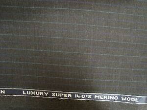 4-44-yd-Donald-Peebles-Wool-Fabric-6-5-oz-Super-140s-Suiting-Charcoal-160-034-BTP