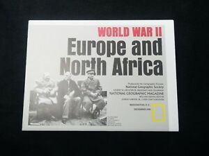 Details about World War II Europe & North Africa Map National Geographic  DEC 1991. FREE Ship