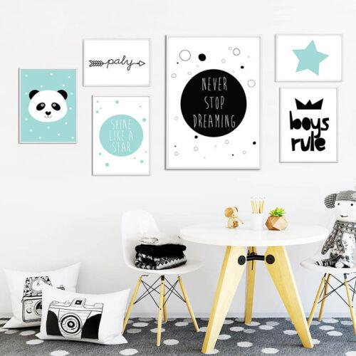 Cartoon Wall Art Canvas Poster Nursery Print Painting Nordic Kids Bedroom Decor