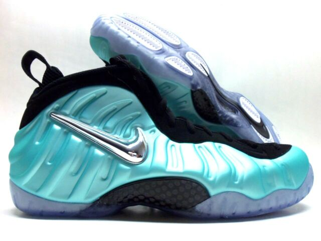 wholesale dealer 85e55 6b41b NIKE AIR FOAMPOSITE PRO ISLAND GREEN METALLIC PLATINUM SIZE MEN 14   624041-303