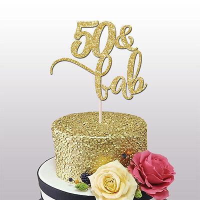 Qty 12 50 Birthday Fifty Glitter Topper Happy 50th, Cake
