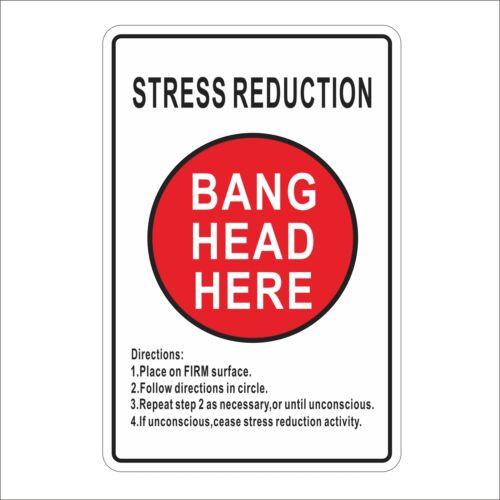 3M Graphics Stress Reduction Bang Head Here Cool Vinyl Box Helmet Decal Sticker