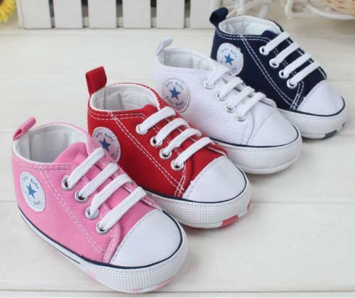 Baby Infant Newborn Toddlers Girls Boys Sneakers Crib Shoes Trainers Soft Sole