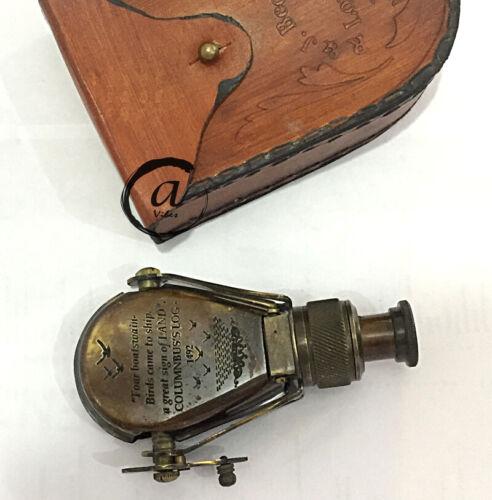Ledertasche Teleskop Vintage Monokular R/&J BECK Fernglas Geschenk für Sie Ihn.