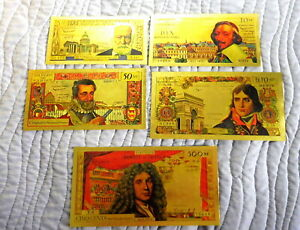COLLECTION-COMPLETE-5-BILLETS-POLYMER-034-OR-034-COULEURS-ANNEES-1960-REF1a