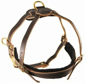 Dean-amp-Tyler-The-Cowboy-Leather-Tracking-Pulling-Dog-Harness-with-Brass-Hardware