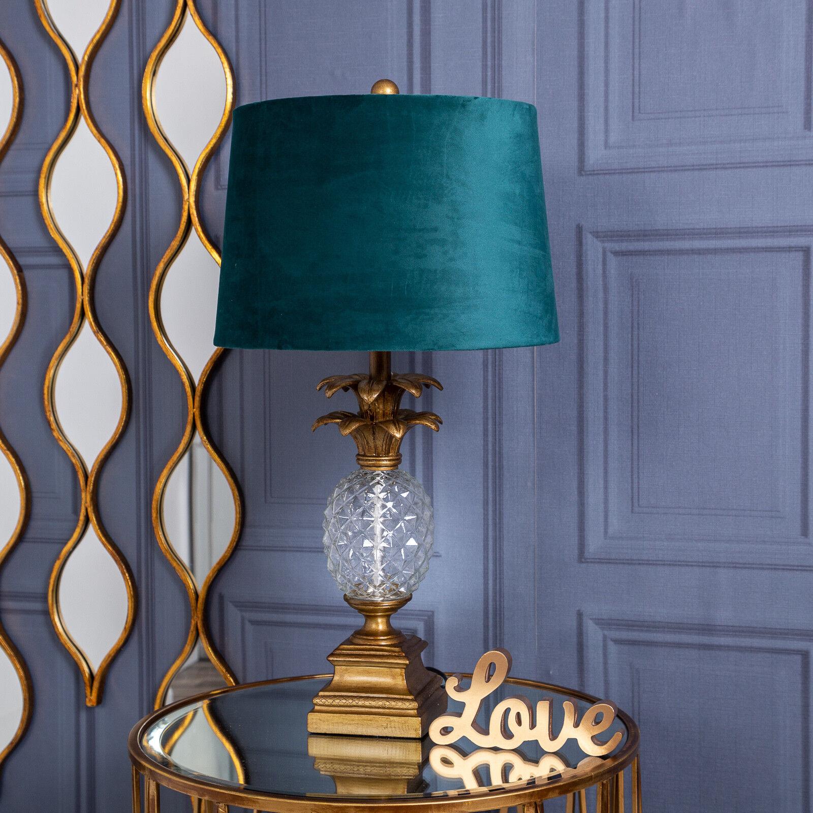 Gold Ananas Lampe Grosser Glas Tischlampe Moderne Flur Wohnzimmer Schlafzimmer Ebay