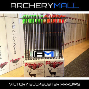 12-VICTORY-Buck-Buster-carbon-arrows-350-or-400-INSERTS-amp-FREE-CUTTING