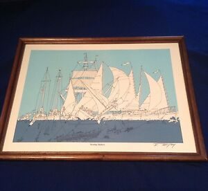 1982 Sunday Sailors Picture By Bruce Johnson Funny Nautical