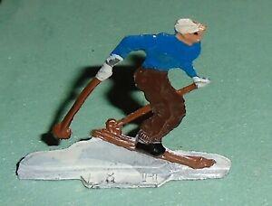 Vintage-Heinrichsen-German-Flat-Lead-034-Downhill-Skier-034-Near-Mint-F-S-LOT-A