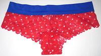 NWT VICTORIA'S SECRET PINK RED STAR PATRIOTIC 4TH JULY CHEEKSTER PANTIES PANTY