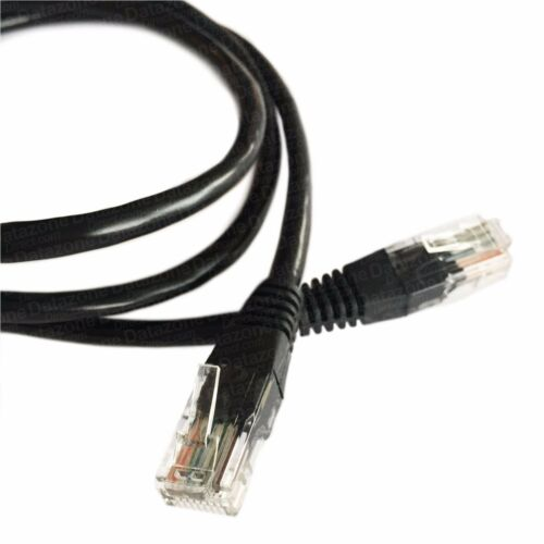 10m Black Ethernet Cable Cat5e RJ45 Home Office Network Patchlead 100/% Copper