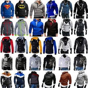 Sudadera-para-hombre-Sueter-Con-Capucha-Top-deporte-casual-chaqueta