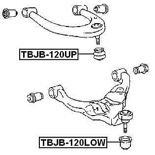 Febest # TBJB-120UP Front Upper Arm Ball Joint Boot