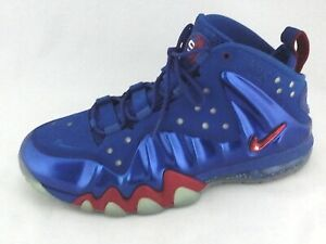 9f0b7884a2e3 Nike Posite Max Sixers 76ers Shoes BARKLEY Blue Red 555097-300 Mens ...