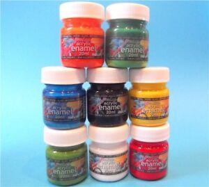 5x Acrylic Enamel Airbrush Paint 20ml Screw On Bottles Pick From