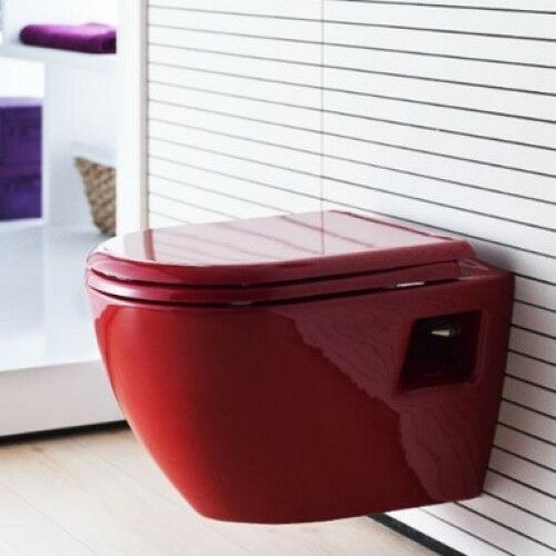 Creavit rouge Wall hung monté WC Pan WC Soft Siège made in TURQUIE