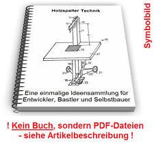 Holzspalter selbst bauen - Technik Holz Spalter Patente Patentschriften