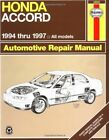 Honda Accord (1994-1997) Automotive Repair Manual by J. H. Haynes, Jay Storer (Paperback, 1996)