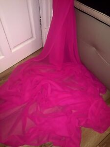3-MTR-QUALITY-NEW-HOT-PINK-CHIFFON-FABRIC-45-034-WIDE-5-99-SPECIAL-OFFER