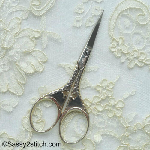 "WASA Solingen 3-1//2/"" Cross Embroidery Scissors-Silver"