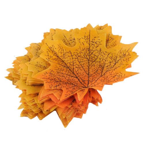 100x Fall Fake Maple Leaves Wedding Lovable Autumn Leaf Wedding Decor