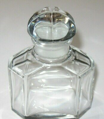 "#2 Invigorating Blood Circulation And Stopping Pains Jicky Quadrilobe 1 Oz 4"" Open-Minded Vintage Guerlain Baccarat Signed Perfume Bottle"