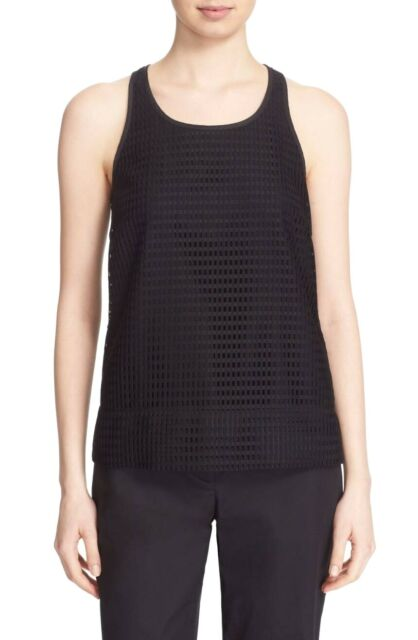 953f3d1724ad9 DKNY Women s Sleeveless Grid Lace Racerback Tank Top P Petite Black  255