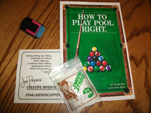 Pool Player Instruction Rule Book /& Cue Stick Tip Care Chalker Scuffer Billiards