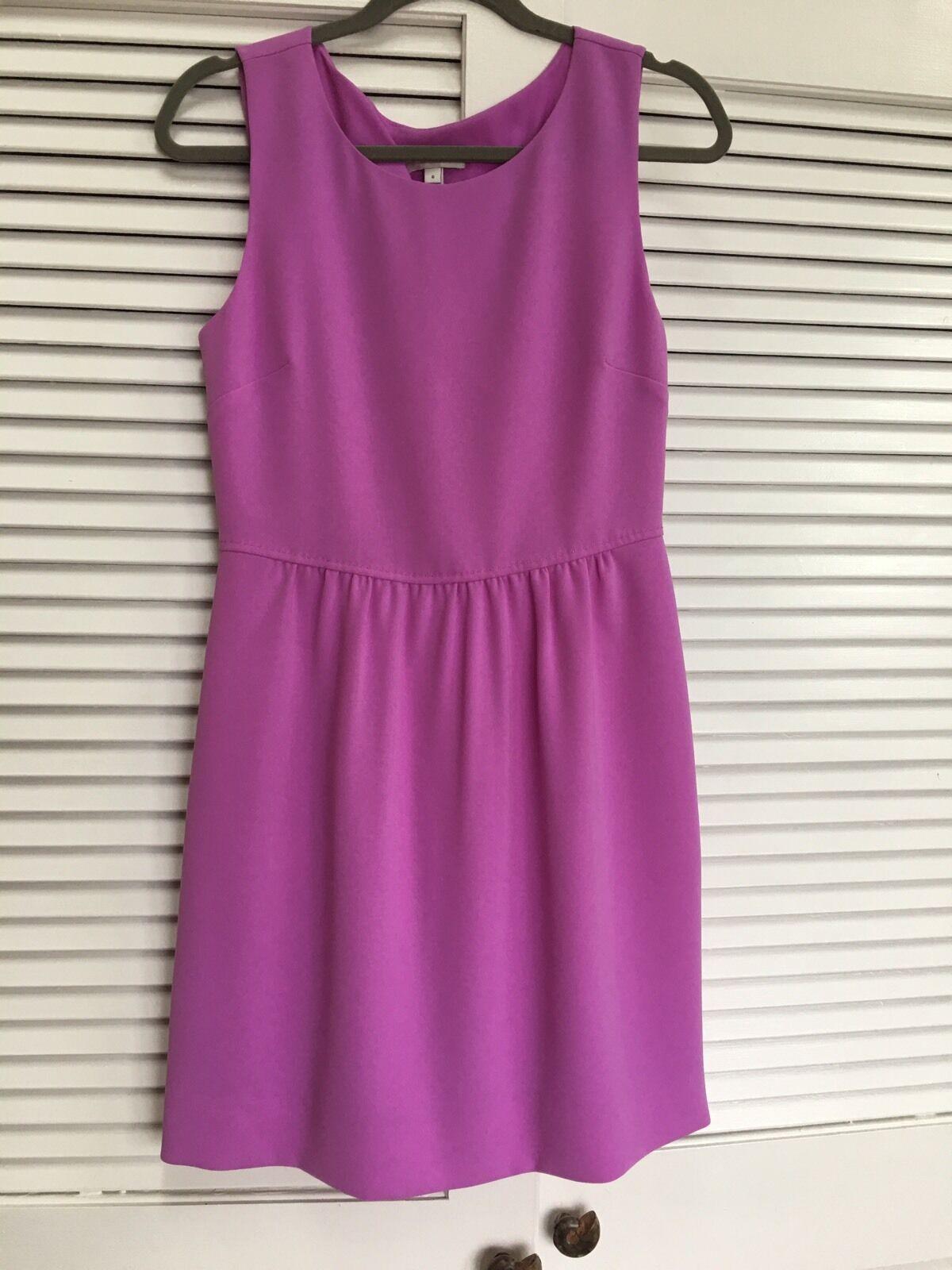 J. Crew Camille lila Lilac Matte Crepe Sleeveless Dress Sz 6