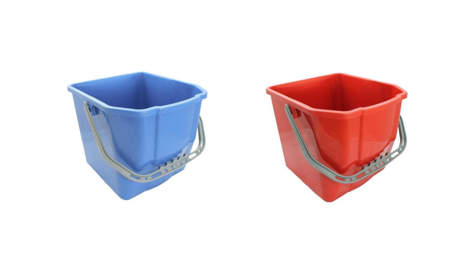 20x Eimer 17L rot o. blau blau blau Wischeimer Putzeimer Wassereimer für Wischwagen 494fce