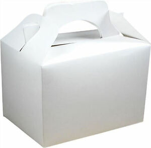 Food Loot Lunch Cardboard Gift Wedding//Kids 20 Black Party Boxes