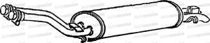 Mercedes 250 2.5 SLN W123 1979-Silenciador De Escape Caja y Trasera Tubo de escape