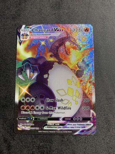 Pokemon - Shining Fates - Shiny Charizard VMAX Full Art Holo SV107 / SV122 - NM