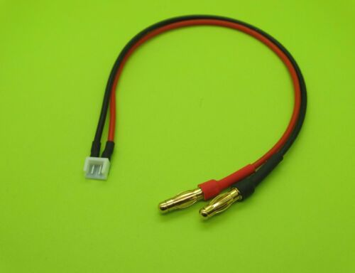 Fiche banane 4 mm lithium-ion Polymère Chargeur Adaptateur pour JR DX6 DX7 TX Batterie//Made in USA