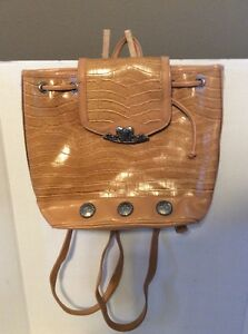 9e64c4af54 Image is loading Bueno-Collection-Backpack-Bag-With-Keychain-Tan-Shoulder-