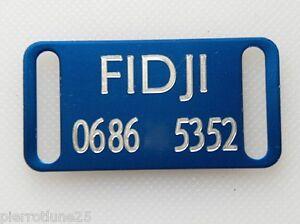 PLAQUE Médaille gravée bleu collier Chien collier gravure offerte PM