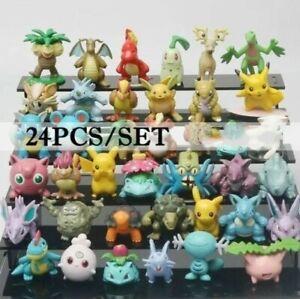 **MIXED LOT** 24 piece Pokemon Small Mini Figures - Guarantee Pikachu!