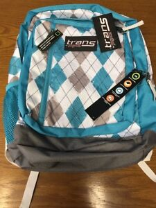 77683baf31 New Trans by JanSport MegaHertz II Backpack Teal Grey White Argyle ...