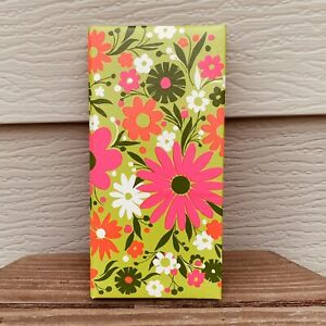 Hallmark-Photo-Album-VTG-60-039-s-MID-CENTURY-Flower-Power-Mod-Hippy-Green-Pink-F-S
