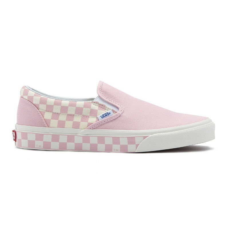 New VANS Uomo Checkerboard Slip on PINK / WHITE VN0A38F7RA8 US M 7 - 10 TAKSE